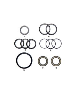 KIT, NEO, END CAP SEALS, FRONT AND REAR (GRAY)