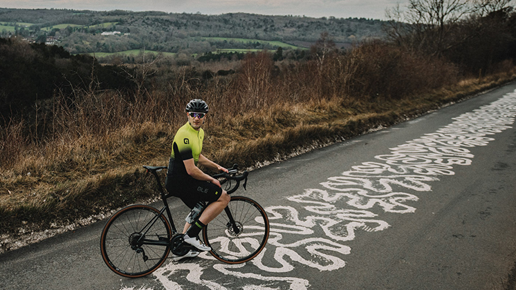 Road Cyclist Riding Goodyear Tubeless Tires