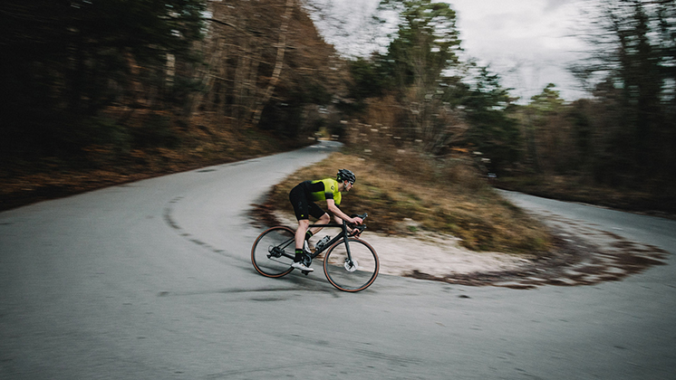 Road Cyclist Riding Goodyear Tires
