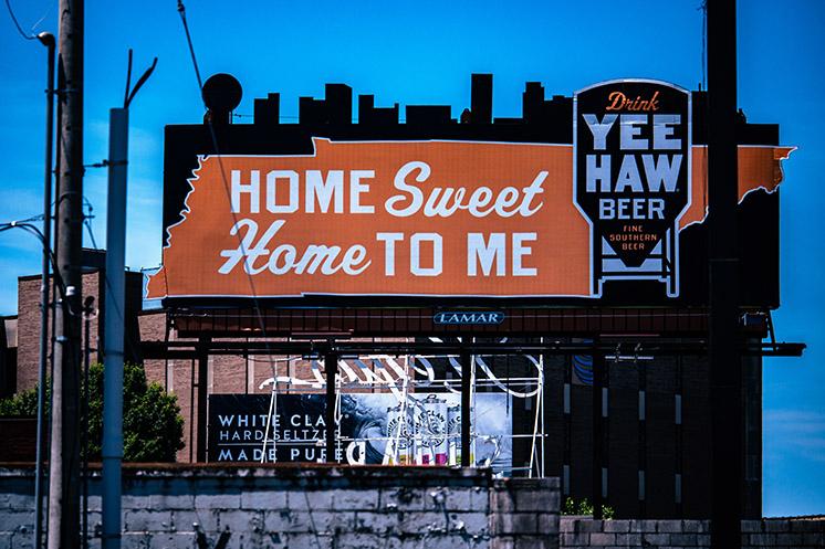 Yee Haw beer billboard