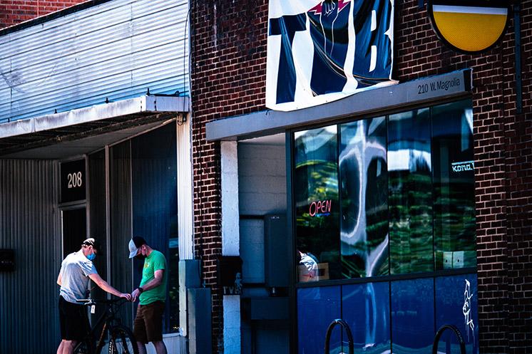 TVB bicycle shop storefront
