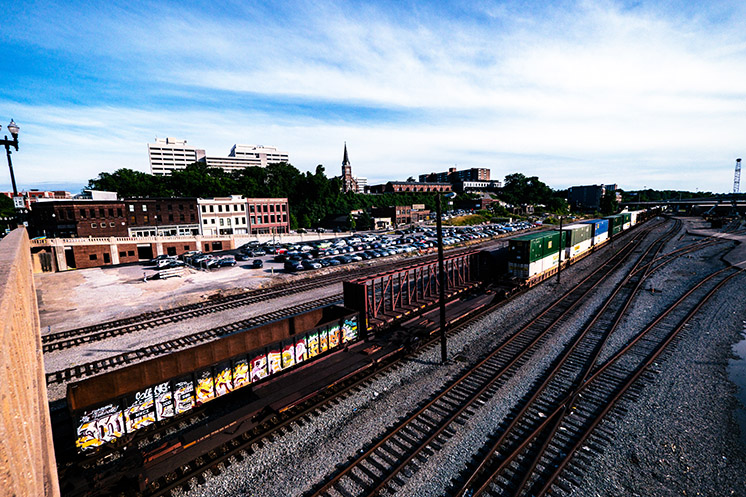 Trainyard outside of Knoxville