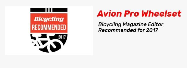 Great BikeRadar Review of the Avion Wheelset