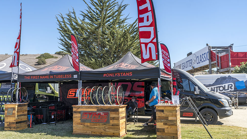 The Stan's Booth at the 2021 Sea Otter Classic