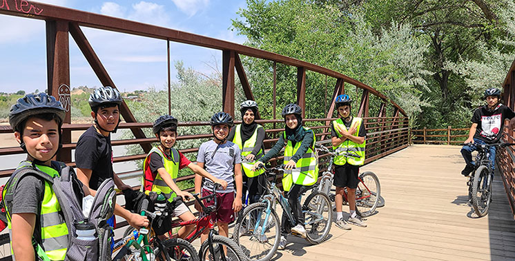 young riders out for a ride at the Center of Southwest Culture