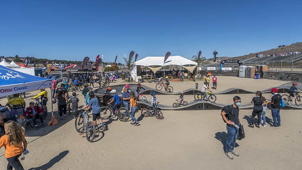 Kids at the Sea Otter Classic 2021 Pump Track