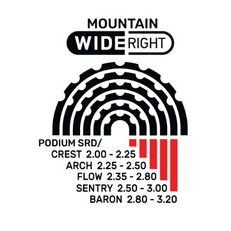 Mountain Wide Right custom wheel