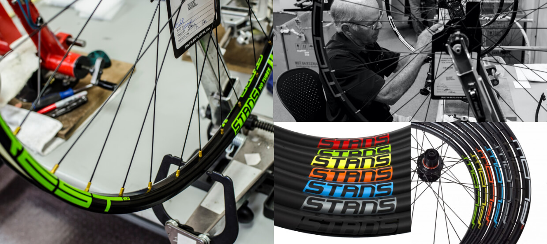 Collage of bike wheels