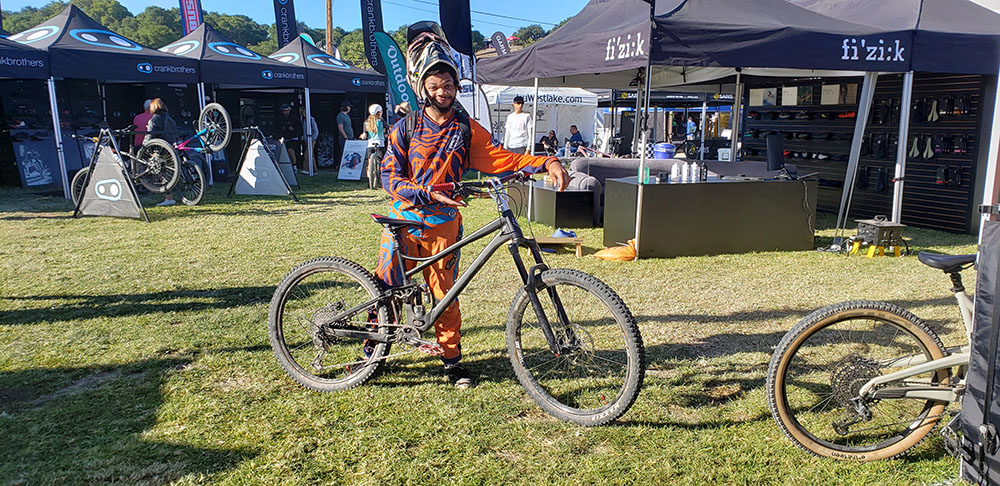 Bronson from BeMoreBikes with a Close Up of His Raised Reverse Stem Concept